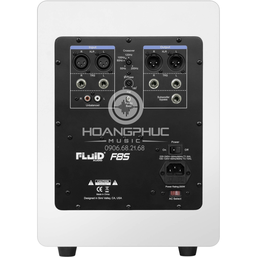 Fluid Audio Fader Series F8S Active Subwoofer