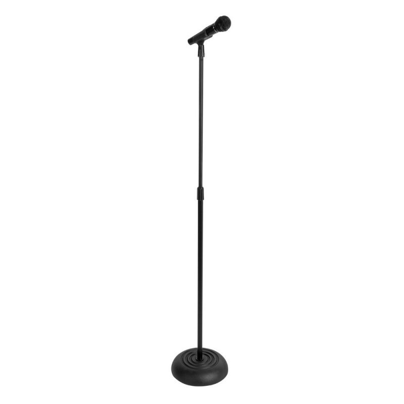 On-Stage MS7201B Round Base Mic Stand (Black)